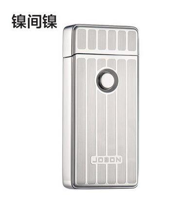 幸福居*jobon中邦雙電弧usb充電打火機超薄防風電子點煙器