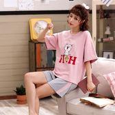 【預購款】居家服夏季新款睡衣套裝女短袖短褲甜美兩件套可外穿629#【時尚潮流部落】
