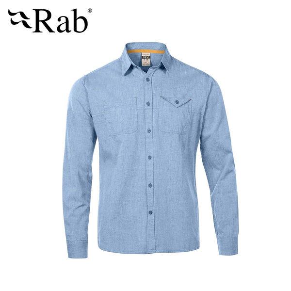 英國 RAB Maker LS Shirt 休閒長袖襯衫 男款 藍色 #QCA80