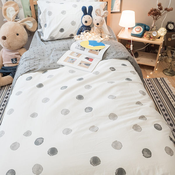 黑糖珍珠 D4 雙人床包+涼被四件組 100%精梳棉  台灣製 棉床本舖