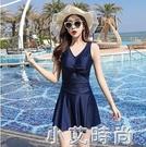 泳衣女2020年新款溫泉遮肚顯瘦韓國ins保守仙女范小胸聚攏連身夏 小艾新品