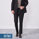 SST&C 男裝 黑色紋理經典西裝褲 |...