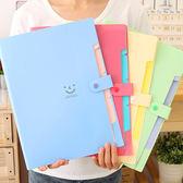 多層文件夾A4試捲袋韓版文件袋辦公學生用多功能手提小清新資料袋【販衣小築】