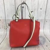 BRAND楓月 CELINE 紅色 牛皮 皮革 SOFT CUBE 枕頭 方包 手提包 側背包 兩用包