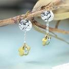 【鑽石屋】雙色k金耳環 雙色花朵耳環 甜...