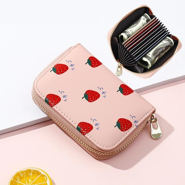 新鮮貨 韓國可愛個性迷你小巧風琴卡包女式多卡位小清新零錢名片卡夾
