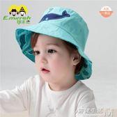 伊米倫帽子春秋男童薄款遮陽帽帽子純棉雙面戴帽  遇見生活
