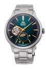 【分期0利率】ORIENT 東方錶 SUN & MOON系列 日月相錶 鋼帶款 綠面 RA-AS0104E