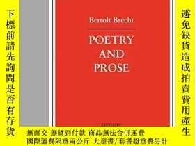 二手書博民逛書店Poetry罕見And Prose-詩文Y436638 Reinhold Grimm Continuum, 2