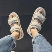 2020夏季新款涼鞋男士潮流沙灘鞋百搭外穿涼拖兩用室外運動版拖鞋 布衣潮人