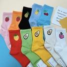 韓襪 手繪水果襪子 酪梨襪子 玩翻食物襪 長筒襪 夏日清涼水果