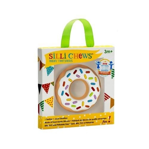 美國 Silli Chews 香草甜甜圈咬牙器(固齒器)SC-6[衛立兒生活館]