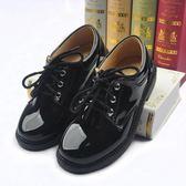 兒童小皮鞋 新款學生兒童9-10歲黑色系帶西裝禮服鞋 GY1343『寶貝兒童裝』