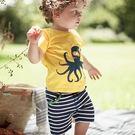 童裝 章魚印花短袖上衣+短褲 套裝 橘魔法Baby magic  現貨  短袖上衣