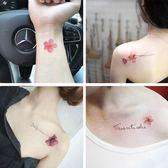 雙12聖誕交換禮物紋身貼防水女持久韓國小清新可愛性感鎖骨腳踝玫瑰仿真紋身貼紙