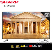 【佳麗寶】-(SHARP 夏普)60吋4K智慧連網液晶顯示器LC-60UA6500T 含運送安裝