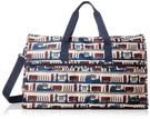 HAPITAS 米色倫敦 旅行袋 行李袋 摺疊收納旅行袋 插拉桿旅行袋 HAPI+TAS H0004-220 (大)