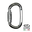 O型鋁合金有鎖鉤環2C46400 Climbing Technology/城市綠洲(原色、攀岩鉤環、義大利製造、鋁合金)