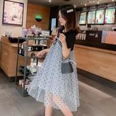 漂亮小媽咪 網紗洋裝 【D7758】 PRINCESS 浪漫 網紗 波點 孕婦裝 洋裝 紗裙