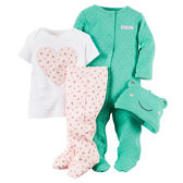 Carter's平行輸入童裝 女寶寶 帽子&上衣&兔裝&包腳褲 多色【CA121D634】