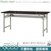 《固的家具GOOD》282-11-AX (塑鋼材質)折合式6尺直角會議桌-胡桃色