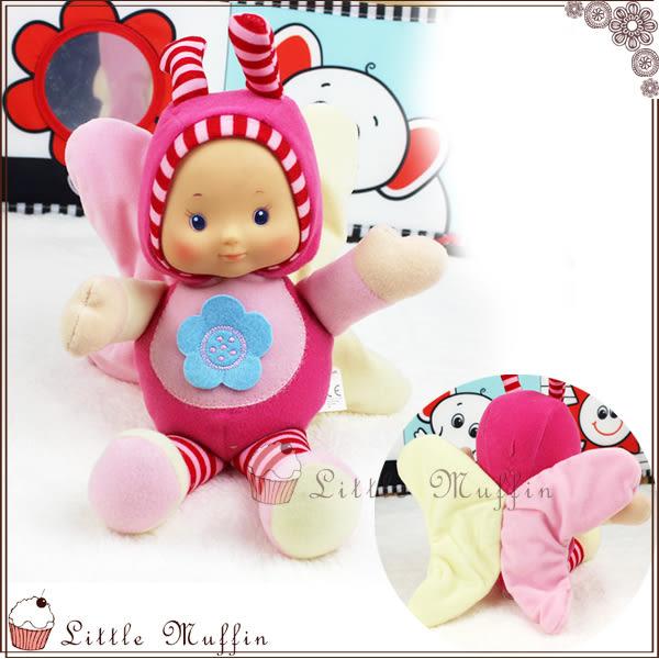 可愛精靈寶寶響紙安撫洋娃娃 搖鈴+響紙+BB器