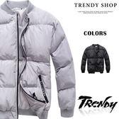 『潮段班』【SD090030】韓版冬季新款 M-2L 簡約保暖純色防寒防風厚外套 鋪棉外套