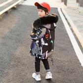 中大童裝男童冬裝棉衣中長款外套2019新款兒童羽絨棉服洋氣棉襖潮