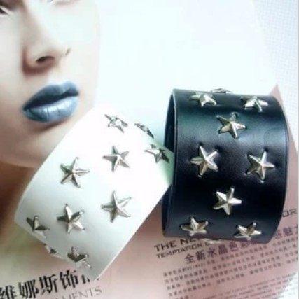 ►韓版情侶手鏈 柳釘五角星朋克潮人手鏈 首飾品【B3059】