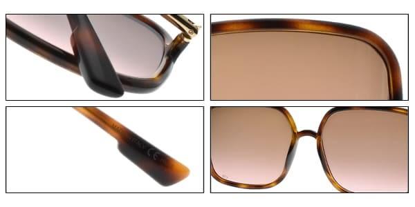 Dior 太陽眼鏡 SO STELLAIRE1 80686 (琥珀棕-漸層棕紅鏡片) 時尚大方框造型款 墨鏡 #金橘眼鏡