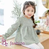 韓-春款新品 女童棉 可愛女寶寶 飛飛邊長袖 氣質娃娃衫 上衣 Be Fashion
