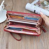女士錢包女長款手拿包拉鍊多功能長款大容量皮夾手機包    蜜拉貝爾