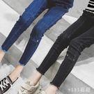 女童休閒長褲 女童秋褲子韓版中大童長褲加絨加厚小腳牛仔褲 nm9478【VIKI菈菈】