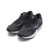 MIZUNO WAVE SKYRISE 2 慢跑鞋 黑/灰 J1GC210953 男鞋