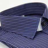 【金‧安德森】深紫亮紫紋窄版長袖襯衫