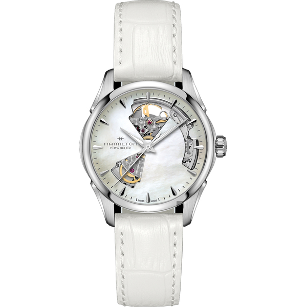Hamilton 漢米爾頓 Jazzmaster 鏤空機械錶-36mm(H32215890)