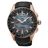 SEIKO 精工 ASTRON系列 限量尊爵GPS衛星定位太陽能鈦金屬皮帶腕錶(8X22-0AE0J/SSE105J1)