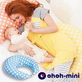 【ohoh-mini孕婦裝】多功能恆溫IQ授乳枕-粉藍