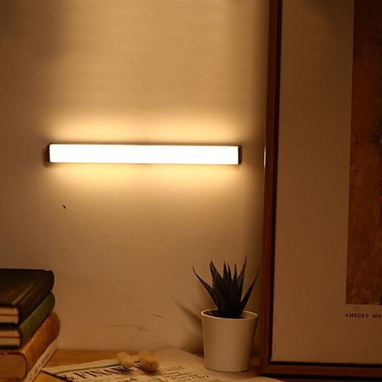 感應燈 LED燈 照明燈 人體感應燈 10CM 緊急燈 USB充電 磁吸式 LED長條感應燈【J053】慢思行