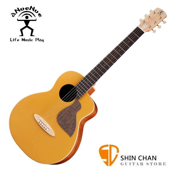 aNueNue MC10-GG 彩色鳥吉他 光輝金 36吋小吉他 雲杉面單板/桃花心木側背板 附多樣配件