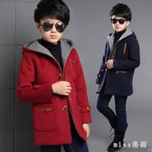 中大尺碼童裝外套 男童冬裝呢子外套中大童韓版兒童呢大衣冬季加厚長袖 js19698『miss洛羽』
