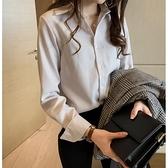 條紋襯衫女2021新款長袖寬鬆韓版打底衫百搭上衣秋胖妹妹大碼襯衣 寶貝計畫
