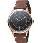 MIDO美度先鋒系列傳承者脈搏腕錶 M0404073606000 黑x玫瑰金
