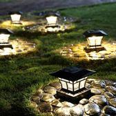 翰文新款黑色裝飾柱頭燈草坪燈LED戶外地插燈庭院景觀燈太陽能燈