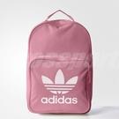 adidas 後背包 Tricot Classic Backpack 三葉草 Logo 粉紅 白 女款 包包 基本款【ACS】 BK6725
