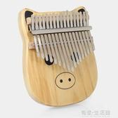便攜式17音拇指琴卡林巴琴kalimba指母琴初學者入門卡通自學樂器 有缘生活馆