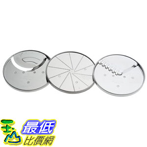 [美國直購] Cuisinart DLC-093 食物調理機周邊 3-Piece Specialty Disc Set 適用 14杯 攪拌機