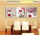 【優樂】無框畫裝飾畫酒店飯店紅蘋果水果壁掛畫餐廳廚房玄關