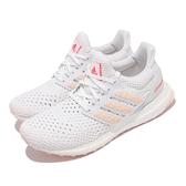adidas 慢跑鞋 UltraBOOST Clima U 白 粉橘 透氣 愛迪達 路跑 女鞋 【ACS】 GY0531