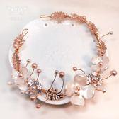 女童發飾 韓式小女孩錶演頭飾花朵發箍 兒童珍珠花童禮服配飾影樓·Ifashion